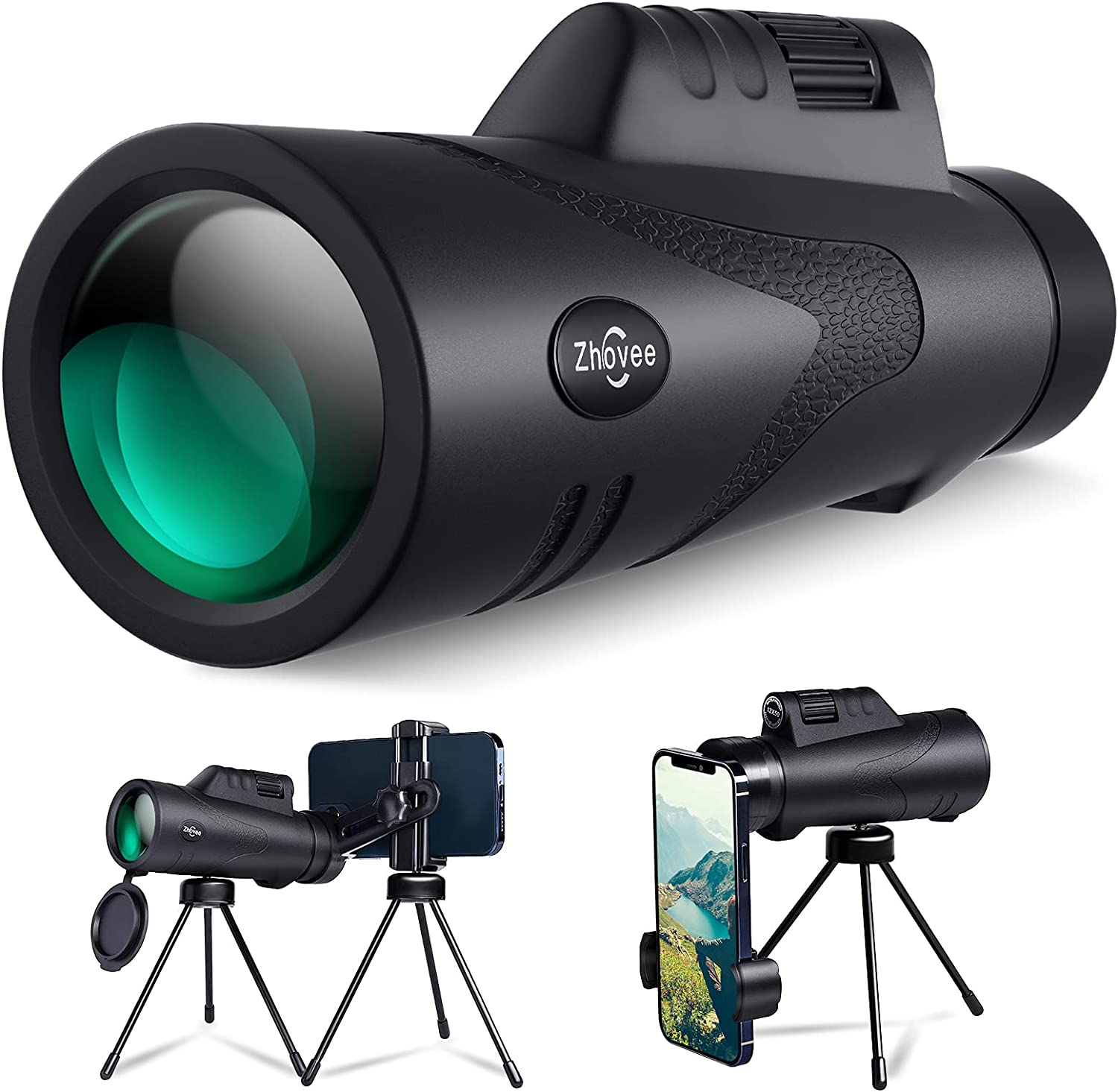 Monocular Excellent Spring new work one after another Telescope 12X50 HD Monoscope with Adapter Ha 2 Tripod