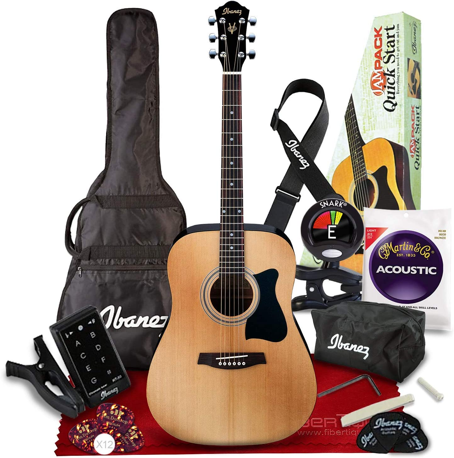 Ibanez IJV50 JAMPACK 6 String Acoustic Pack Natural 爆買いセール Guitar いつでも送料無料 with