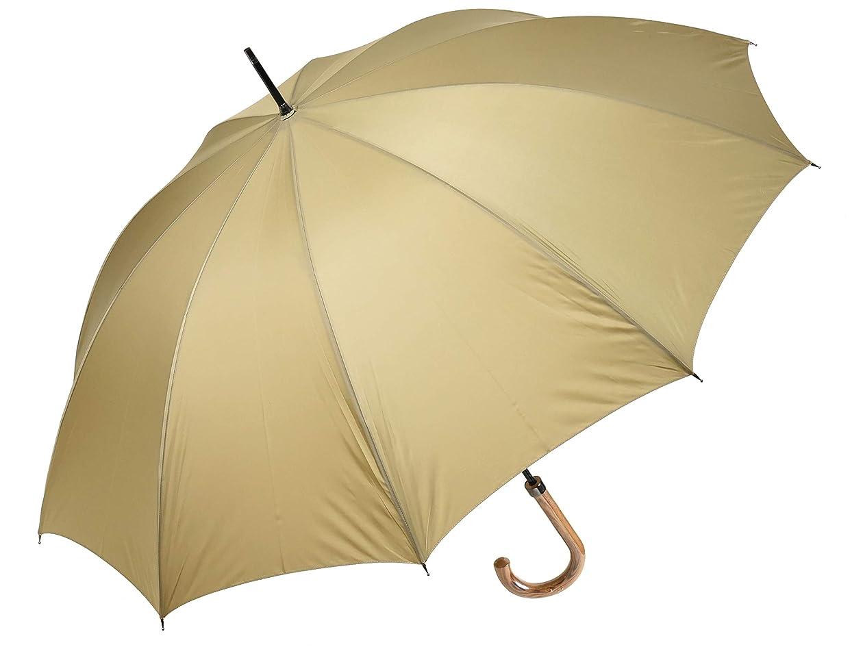 気をつけて火インペリアルWAKAO クラシックスタイル 10本骨 メンズ長傘 親骨65cm 雨傘 高密度 超撥水 日本製 (ベージュ)