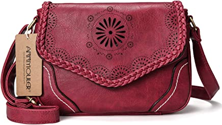 c37e9dddb Women Shoulder Bag Vintage Pu Leather Crossbody Bag Hollow Out Ladies  Satchel Bag Brown Retro Handbag