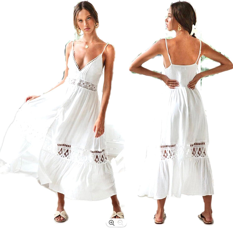 White Bohemian Maxi Long Dress
