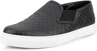 Men's Dublin Microguccissima Leather Signature Slip-On Sneaker, Black