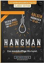DENKRIESEN - Hangman - Classic Edition - Galgenmännchen to GO | Spielblock | Partyspiel | Reisespiel | Wichtelgeschenk | G...