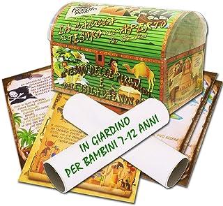 Caccia al tesoro in scatola in giardino - in spiaggia o casa/giardino 7-12 anni - per feste di compleanno - giochi per bam...
