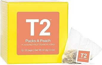 T2 Tea Pack a Peach Fruit Tea, Iced Teabags, 25Count