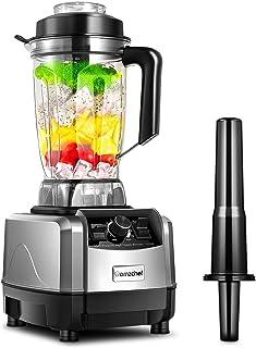 Blender Smoothie, AMZCHEF Mixeur Blender 1500W Professionnel, Mixeur Multifonction avec 10 Vitesses Réglables, 2 Litres Ja...