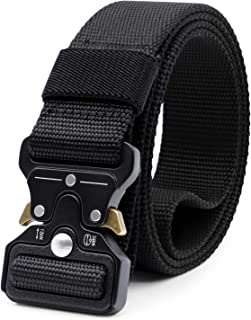 Women Junior Tactical Belt, Military Style Webbing Riggers Nylon Belt with Heavy-Duty Buckle 1.25 Inches Wide