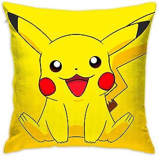 LIUYAN Funda de Almohada Funda de cojín Smile Pikachu Decorativo Funda de Almohada Sofá Asiento de Coche Suave 18 x 18 Pulgadas