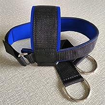 Hoofd harnas sterke trainer nek harnas sterkte riem met ketting verstelbare nek power training riem gym fitness gewichthef...
