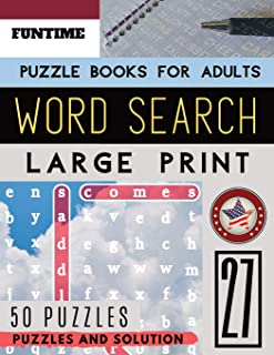 Word Search Puzzle Books for Adults Large Print: FunTime Activity brain teasers Book | Wordsearch Easy Quiz Game for Adults (Find a Word and Circle ) (Wordsearch Brain Teasers Game)