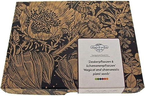 Plantes magiques et chamaniques - kit cadeau de graines avec 5 variétés ethnobotaniques