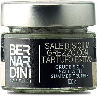 Sal con trufa negra|Sal marina de Sicilia con trufa negra de verano (Tuber aestivum Vitt.) 100g - Bernardini Tartufi