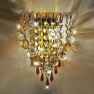 LiL vägglampa LED guld kristall vägglampa vardagsrum sovrum natt projekt korridor dekorativ vägglampa K9