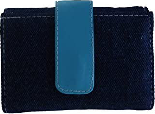 Modish Look Blue & Yellow Leather Women's & Girl's Wallet