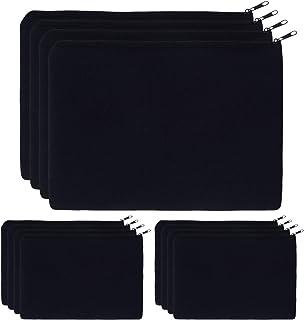 Canvas Pouch Bulk, 12 Pcs KOOLMOX 9 x 7 inch Makeup Bags Cosmetic Bags for Teens Girls, Plain Pencil Bag, Blank Black Canv...