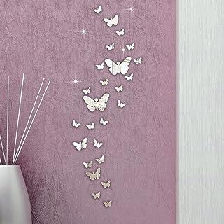 Ventanas Espejos etc EXTSUD 12 Piezas Mariposas Pegatinas Adhesivo de Pared 3D Decorativas Pegatinas DIY para Puertas Refrigeradores Paredes