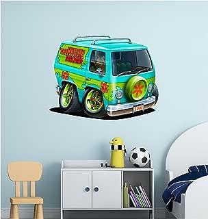 Stickit Graphix Scooby Doo Wall Decal Vinyl Mystery Machine Van Minivan Cartoon Network Volkswagen VW Bus Kids Wall Decor (12 inch)