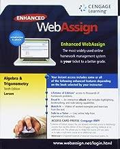 WebAssign Printed Access Card for Larson's Algebra & Trigonometry, 10th Edition, Single-Term