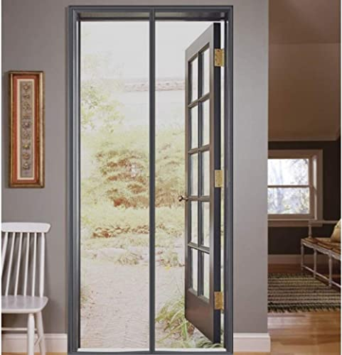 Lifekrafts Mosquito Screen Door Net Curtain with Magnets (210x80 cm, Grey)