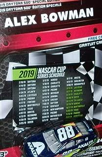 NASCAR Authentics Daytona 500 Special Edition Alex Bowman 88 Axalta 2019 Series Schedule Insert 1 64 Scale Diecast