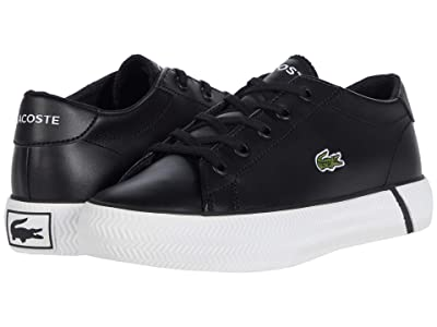 Lacoste Kids Gripshot 0120 2 CUC (Little Kid) (Black/White) Kid