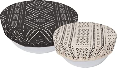 Now Designs 2023021aa Cotton Bowl Covers, Set of Two, Onyx Design, 2 Count