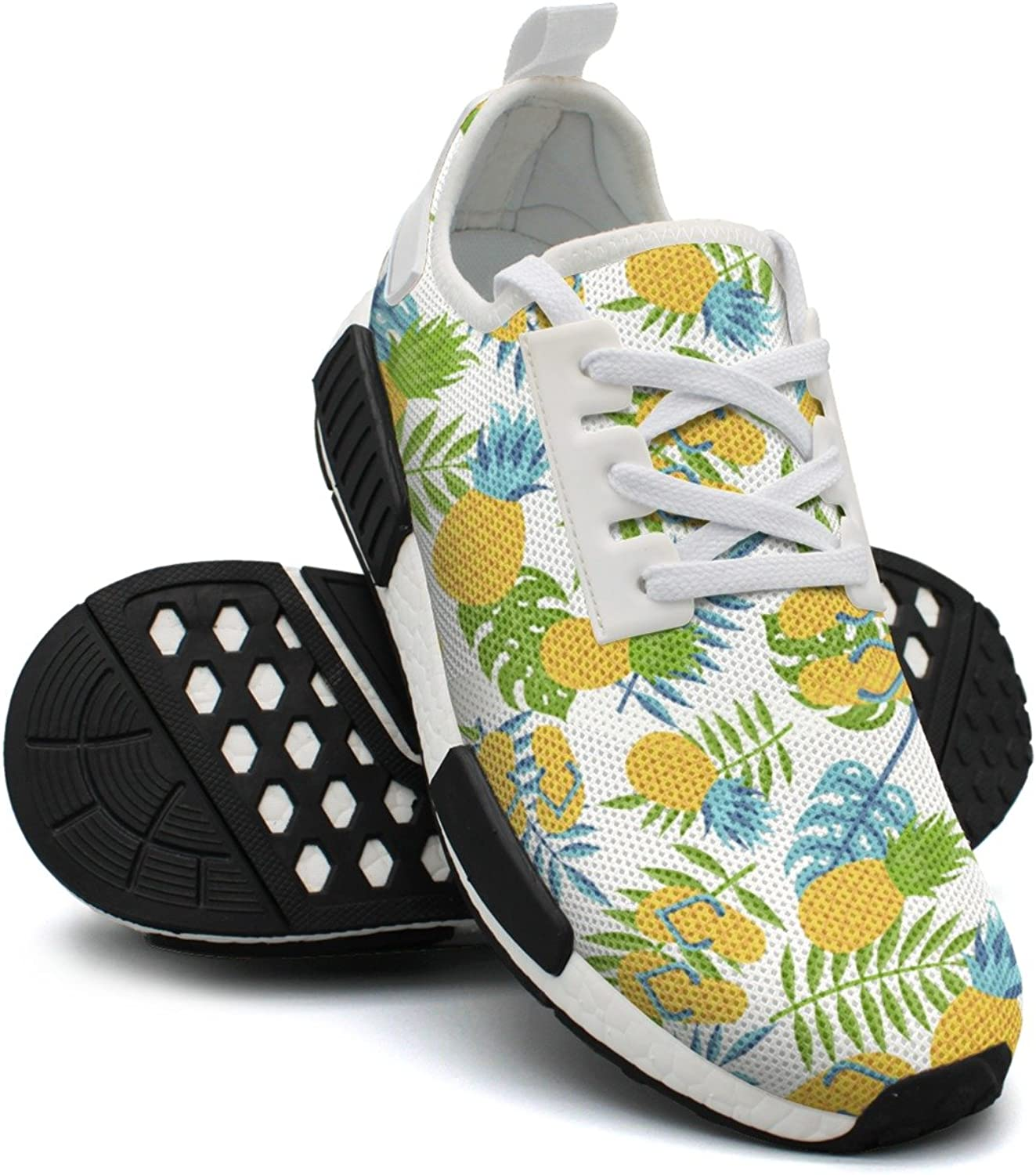 Pineapple Tropical Jungle Pattern for Summer Women's Vintage Lightweight Volleyball Sneakers Gym Outdoor Tennis shoes