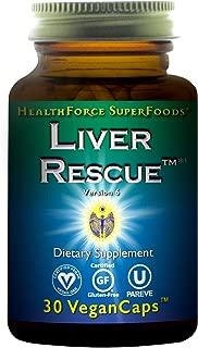 HealthForce SuperFoods Liver Rescue - 30 Count (Pack of 1) Vegan Capsules - All Natural Liver Detoxifier & Regenerator Supplement with Milk Thistle & Dandelion Root - Gluten Free - 15 Servings