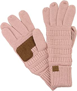 Unisex Cable Knit Winter Warm Anti-Slip Touchscreen...