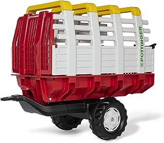 Rolly Toys 122479 rollyHaywagon Pöttinger Anhänger für Trettraktor von 3-10 Jahre, Automatikverriegelung, kippbar