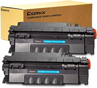 COMIX Compatible Toner Cartridge Replacement for HP 05A CE505A Equivalent (High Yield,Black,2 Pack)