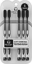 مسواک زدن 5 زغال چوب [GENTLE SOFT] دندان های لختی برس سفید کننده برای بزرگسالان و کودکان - برس های نرم افزاری نهایی نرم (سیاه و سفید)