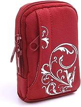 BAXXTAR MANGA I - Funda para cámaras (10,0x 6,0x 2,4cm) con trabilla para el cinturón y correa bandolera) color rojo y blanco.