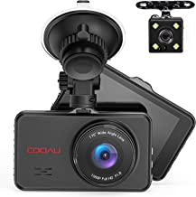 Front and Rear Dual Dash Cam Super Night Vision 1080P Full HD Dashboard in Car DVR Camera with 170°Wide Angle, Parking Monitor, WDR, G-Sensor, Motion Detection, Loop Recording photo