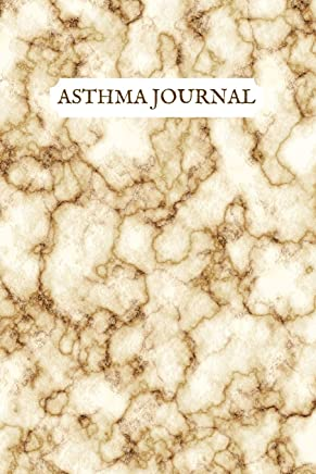 Asthma Journal: Asthma Respiratory Function Test Diary, Health & Fitness Pulmonary Test Log Book, Beautiful Brown & White Marble Effect Journal