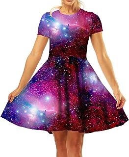 Best galaxy print dress Reviews