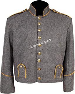 US Civil war Confederate Cavalry Shell Jacket with Shoulder Straps