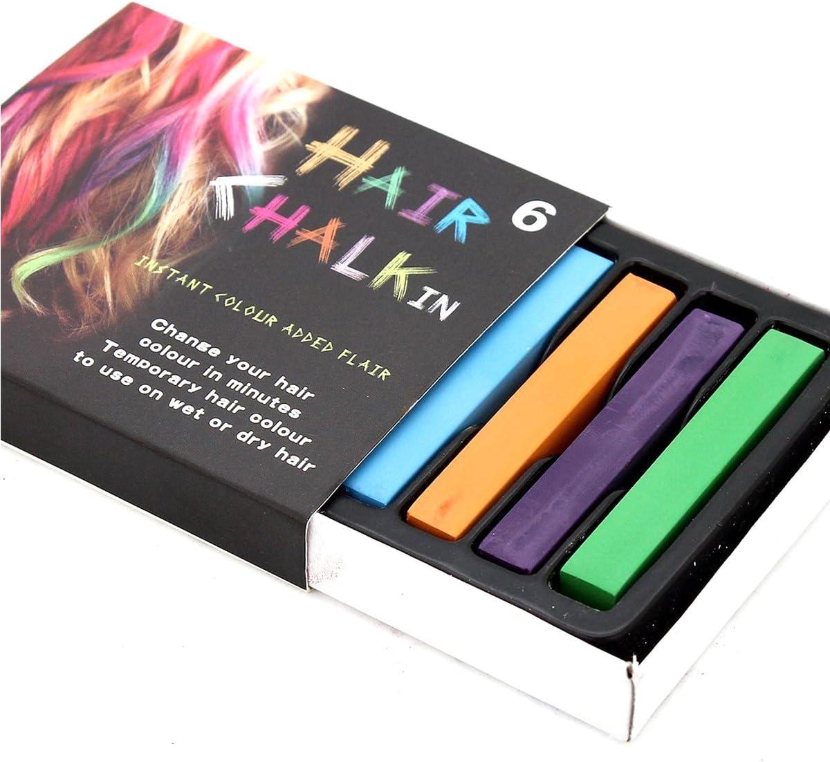 weddecor 6 colores Temporal tinte de pelo tiza cambio gradual, desechables no tóxico belleza accesorios