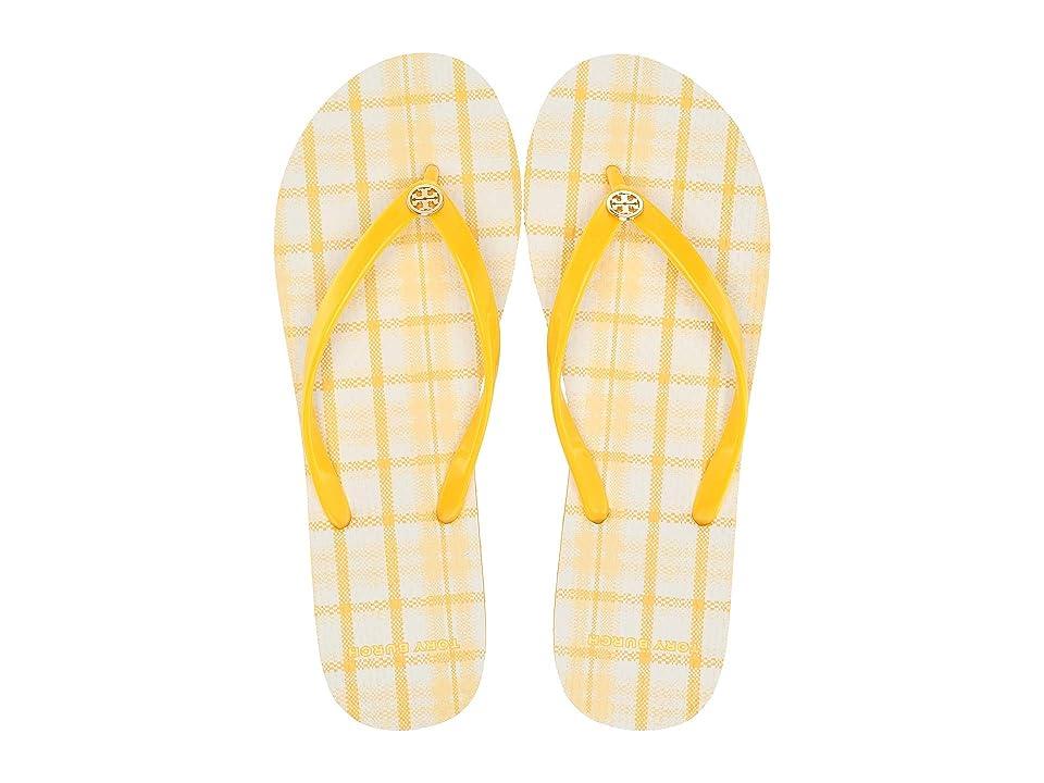 Tory Burch Thin Flip Flop (Sunlight/Yellow Check in Plaid) Women