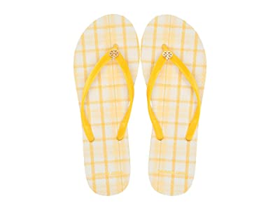 Tory Burch Thin Flip Flop (Sunlight/Yellow Check in Plaid) Women