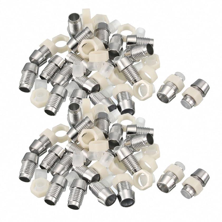 ビン不屈乱暴なuxcell LEDランプホルダー LED直径5mm ねじ径7.7mm 照明アクセサリー シルバートーン 50個入り