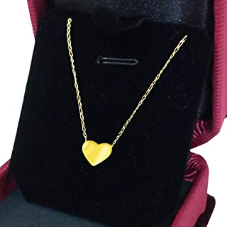 18K Gold Necklace Shaped Heart