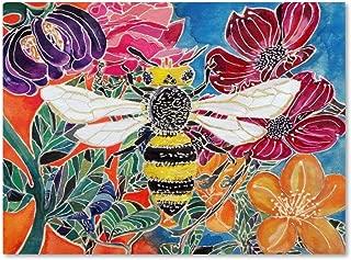 Oh Honey Bee by Lauren Moss, 18x24-Inch Canvas Wall Art