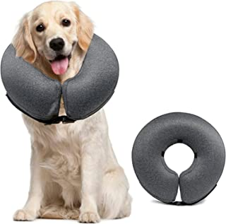 MIDOG Pet Inflatable Collar for After Surgery,Soft Protective Recovery Collar Large Dog Cone for Dogs to Prevent from Touc...