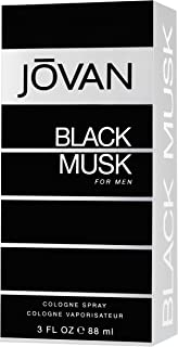 JOVAN Black Musk Eau De Cologne Spray For Men, 88 ml