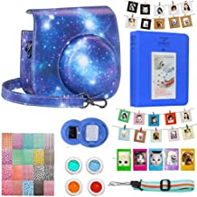 Cpano Instax Mini Camera Case Accessories Bundle  Compatible with Instax Mini Include Case Album Selfie Lens Filters Wall Hang Frames Film Frames Border Stickers  Starry sky