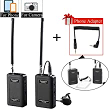 Wireless Lavalier Microphone Smartphone, Saramonic SR-WM4C Lapel Mic System for IOS Smartphone iPhone X 8 8 plus 7 7 plus 6 6s iPad DSLR Cameras Camcorder Canon 6D Nikon Sony DV Recoder Youtube Vlog