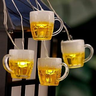 Impress Life Beer Mug String Lights Copper Wire 10ft 30 LED with Remote for Bedroom Dorm Wreathe Summer Wedding Club Decor...