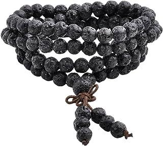 QGEM Joyas Healing 108 perlas Pulsera Buda, pulsera enroscable unisex, cadena budista tibetana, yoga, Buda, Mala, cadena d...