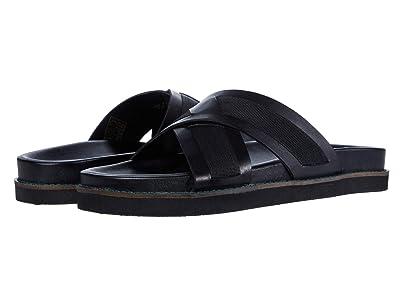 WALK London George Sandal (Black Leather) Men